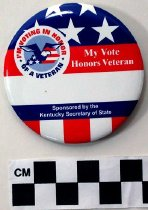 Image of 2009.218.445 - Political button promoting voter turnout