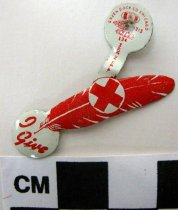 Image of Red Cross tab - Pin, Inspirational