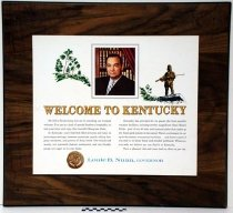 Image of 2009.218.456 - Welcome to Kentucky plaque