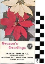 Image of Deemer Floral Co. Ink Blotter Advertisement
