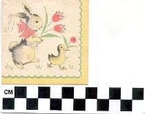 Image of scorecard illustration rabbit duck