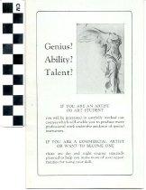 Image of Louisville Art School brochure