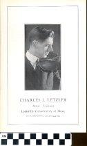 Image of Charles J. Letzler pamphlet
