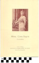 Image of Mme. Cara Sapin pamphlet