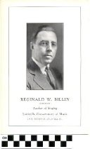 Image of Reginald W. Billin pamphlet
