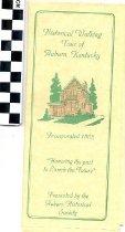 Image of Historical Walking Tour of Auburn, Kentucky pamphlet