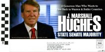 """Image of J Marshall Hughes for State Senate """"A Generous Man"""""""