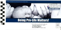 Image of J. Marshall Hughes: Being Pro-Life Matters!