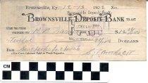 Image of Brownsville Deposit Bank Check