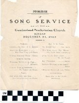 Image of Christmas Eve Song Service program
