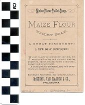 Image of Maize Flour Toilet Soap trade card