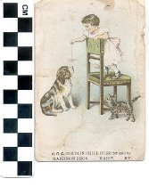Image of Certain Cure Company Certain Chill Cure trade card -