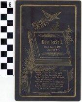 Image of Memorial card, 1891
