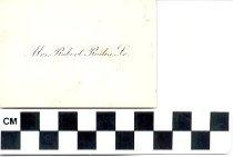 Image of Mrs. Robert Rodes, Sr. [calling card] -