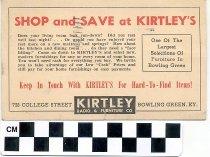 Image of Kirtley Radio & Furniture Co. postcard advertisement