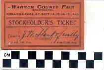 Image of Warren County Fair Stockholder's Ticket
