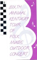 Image of Sixth Annual Kentucky Tour of Folk Music Outdoor Concert brochure