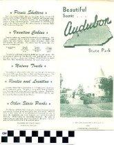 Image of Audubon State Park brochure
