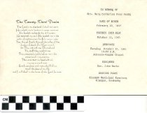 Image of funeral memorial card