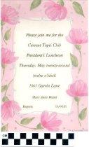 Image of Current Topic Club invitation