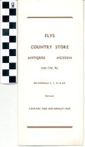 Image of Flys Country Store brochure