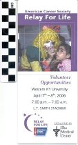 Image of American Cancer Society Relay for Life Volunteer Opportunities brochure