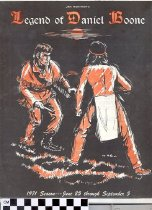 Image of Legend of Daniel Boone play program