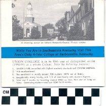 Image of Union College brochure