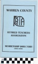 Image of Warren County Retired Teachers Association membership directory