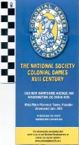 Image of The National Society Colonial Dames brochure