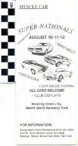 Image of muscle car super nationals brochure