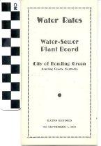 Image of Water Rates handbill