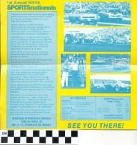 Image of 1st Annual NHRA SPORTSnationals brochure