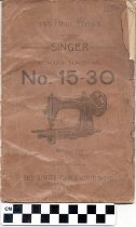 Image of Singer Sewing Machine instruction booklet