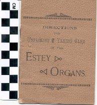 Image of Instruction booklet, Estey Organs