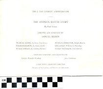 Image of The Stephen Foster Story play program