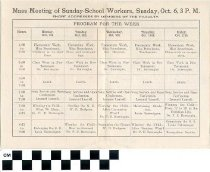 Image of Sunday School Training School program