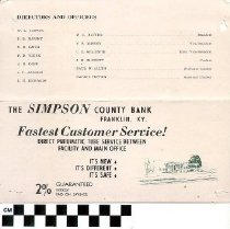 Image of The Simpson County Bank brochure