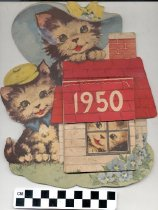 Image of 1950 Kitty calendar