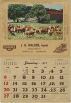 Image of J. B. Walker 1952 Calendar