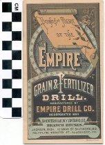 Image of Empire Grain & Fertilizer Drill brochure
