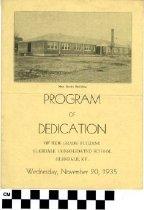 Image of Program of Dedication