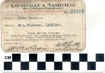 Image of Louisville & Nashville Railroad pass 1940-1941