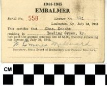 Image of Embalmer license