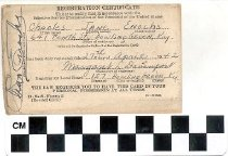Image of Registration Certificate 1942