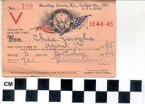 Image of B.P.O. Elks membership card 1944