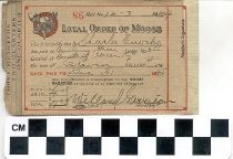 Image of Loyal Order of Moose membership card