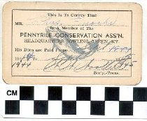 Image of Pennyrile Conservation Ass'n membership card