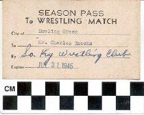 Image of Season Pass to Wrestling Match 1945