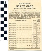 Image of Student's Grade Card